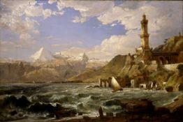 Jasper Francis Cropsey - The Coast of Genoa