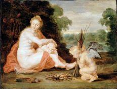 Sir Peter Paul Rubens - Venus and Cupid Warming Themselves