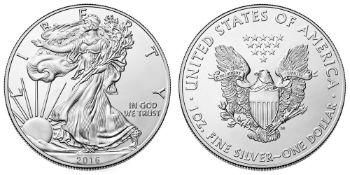 2016 American Silver Eagle .999 Fine Silver Dollar Coin