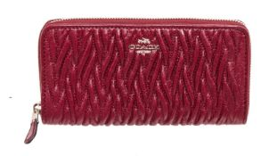 Coach Red Leather Zippy Wallet