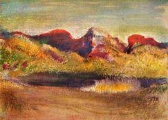 Edgar Degas - Lake And Mountains