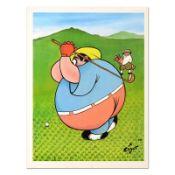 Fat Golfer by Xavier Cugat (1900-1990)