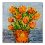 Impasto Orange Floral by Fallas Original