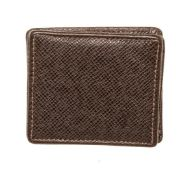Louis Vuitton Black Leather Coin Case Taiga Wallet