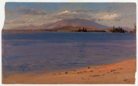 Frederic Edwin Church - Mt Katahdin from Lake Millinocket