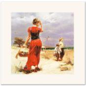 Seaside Gathering by Pino (1939-2010)