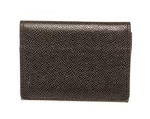 Louis Vuitton Black Leather Envelope Business Wallet