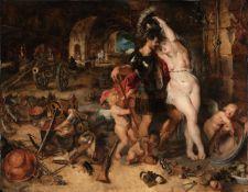 Sir Peter Paul Rubens - Mars Disarmed by Venus