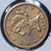 1903-S $5 Liberty Head Half Eagle XF