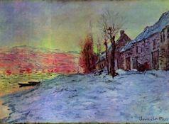 Claude Monet - Lava Court - Sunshine and Snow