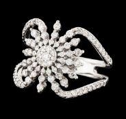 0.88ctw Diamond Ring - 14KT White Gold
