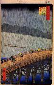 Hiroshige - Sudden Shower over Shin-Ohashi Bridge