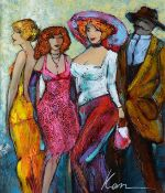 KANEVSKY ** OUR NIGHT OUT ** SIGNED ORIGINAL