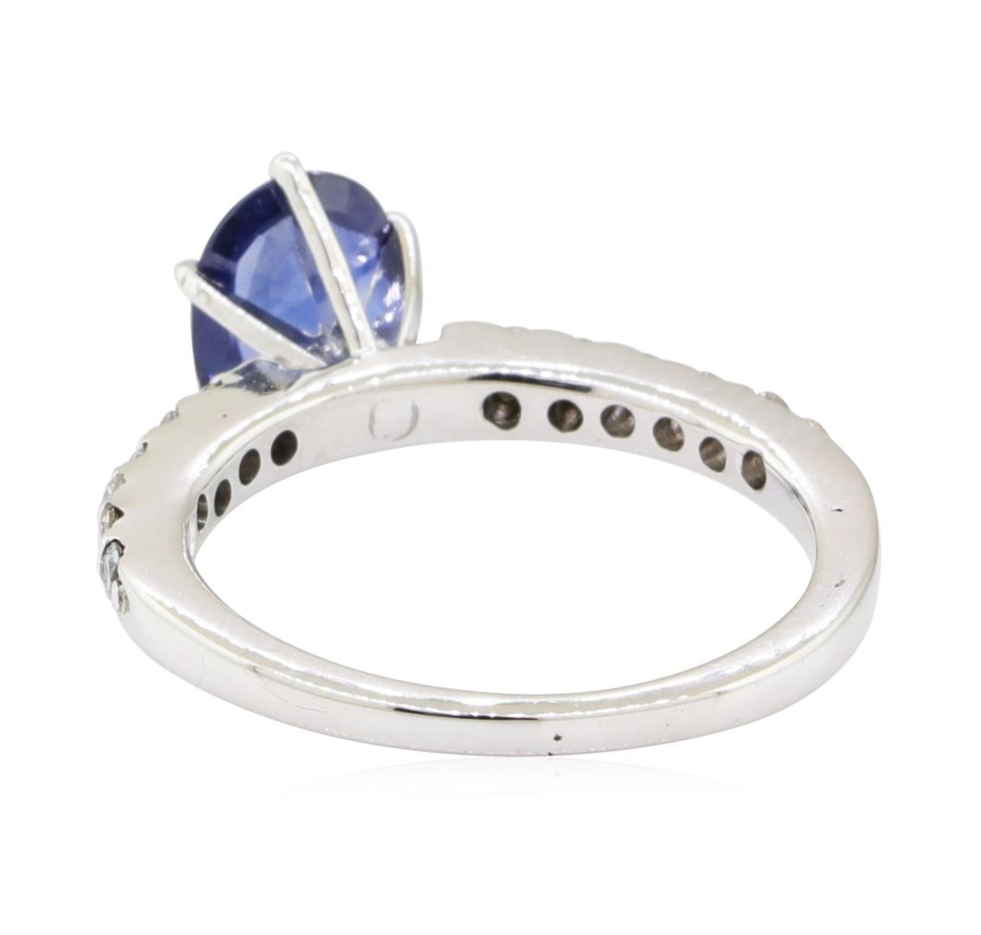 1.25ctw Sapphire and Diamond Ring - 14KT White Gold - Image 3 of 4
