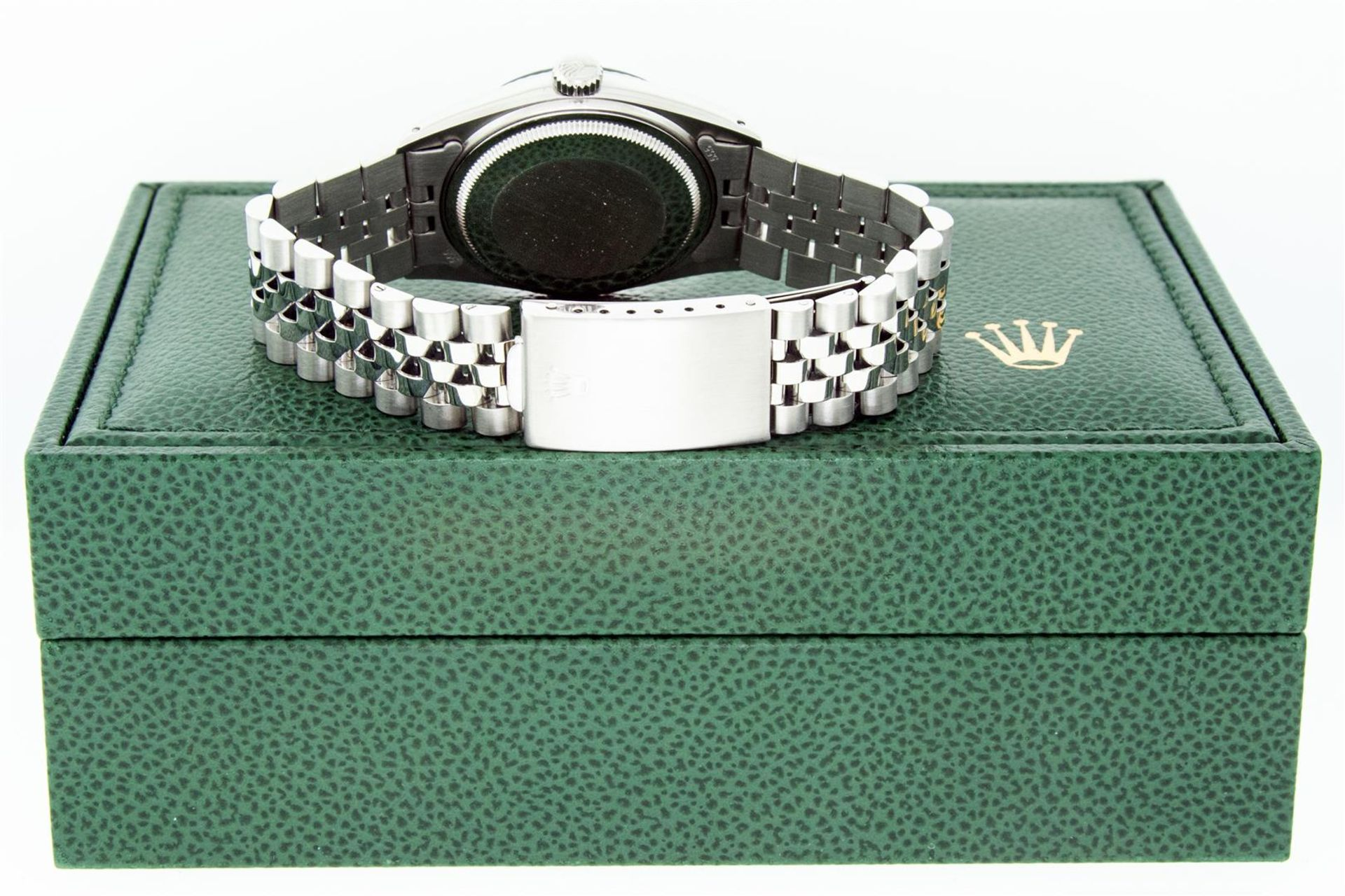 Rolex Mens Stainless Mother Of Pearl Diamond 36MM Datejust Wristwatch With Rolex - Image 7 of 9