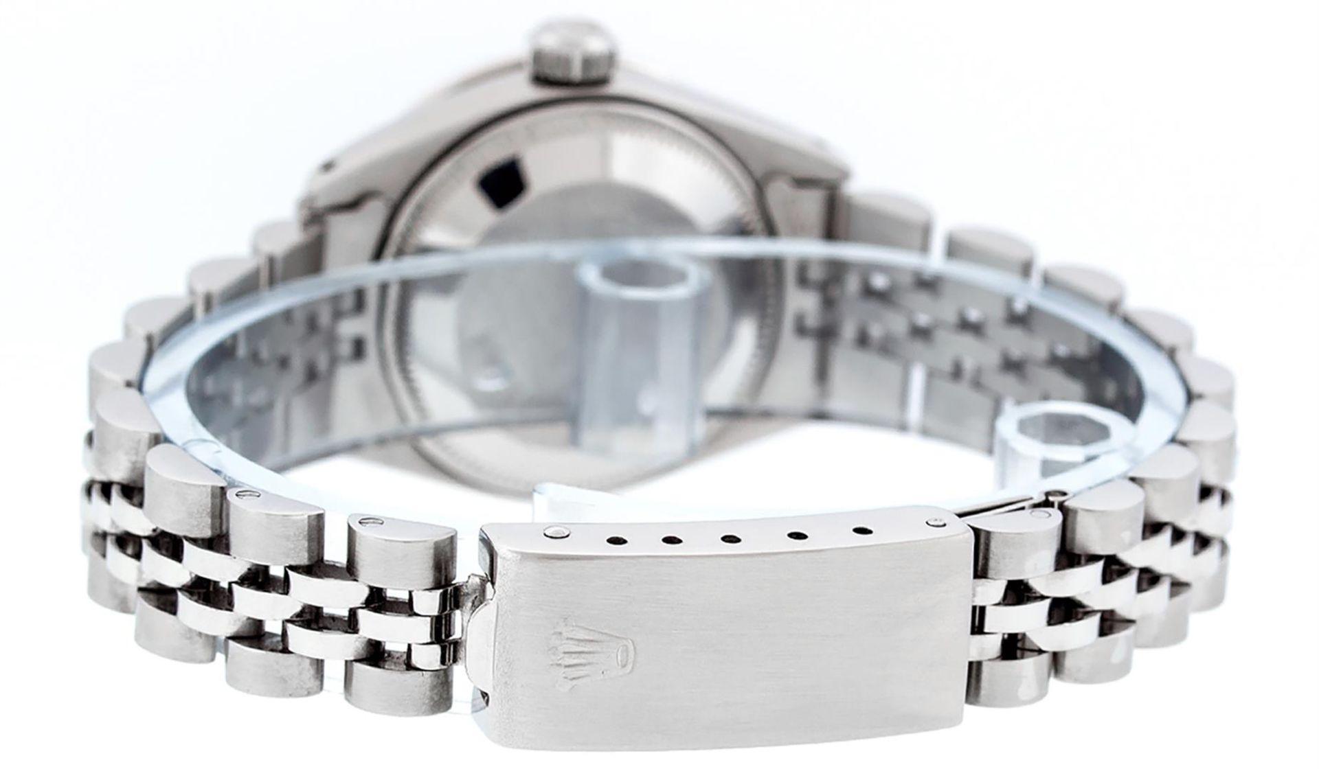Rolex Ladies Stainless Steel Blue MOP Diamond & Emerald Datejust Wristwatch - Image 7 of 9