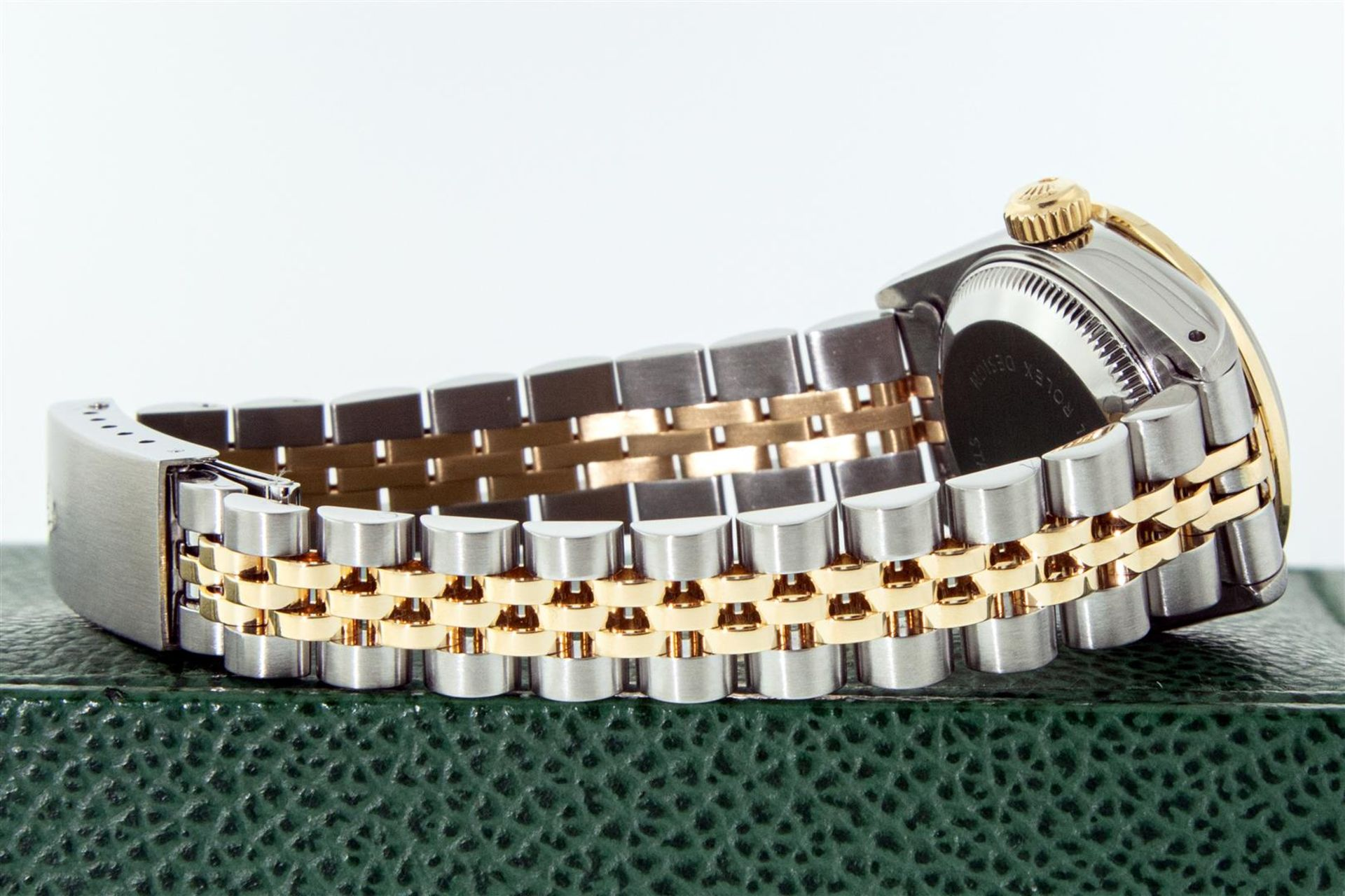 Rolex Ladies 2 Tone Silver Diamond & Ruby Oyster Perpetual Datejust Wristwatch - Image 6 of 9