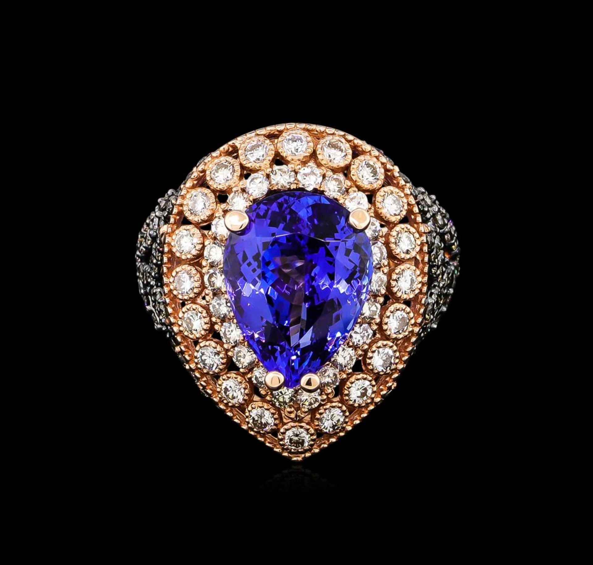 7.31 ctw Tanzanite and Diamond Ring - 14KT Rose Gold - Image 2 of 5