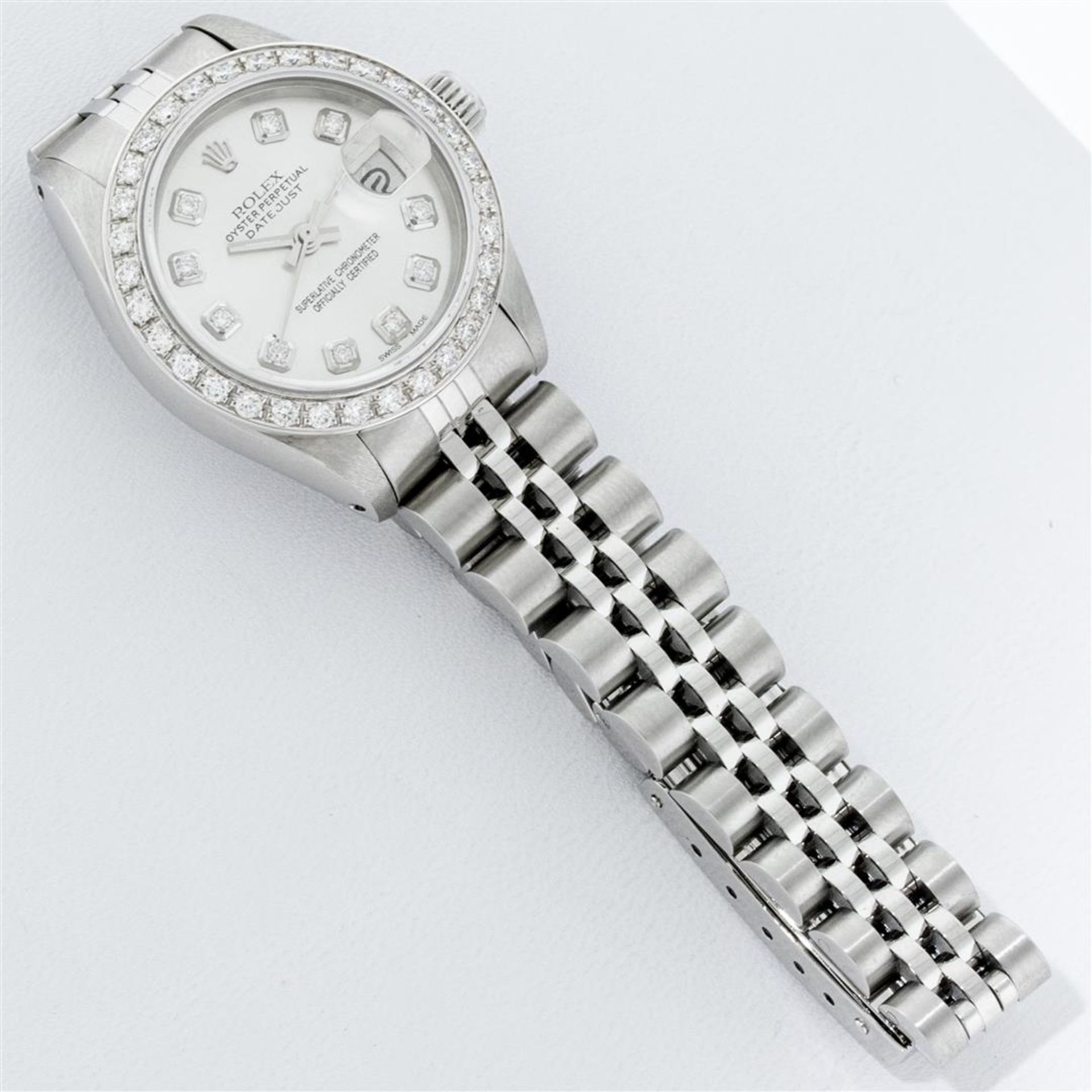 Rolex Ladies Stainless Steel Silver Diamond 26MM Oyster Perpetual Datejust - Image 7 of 9