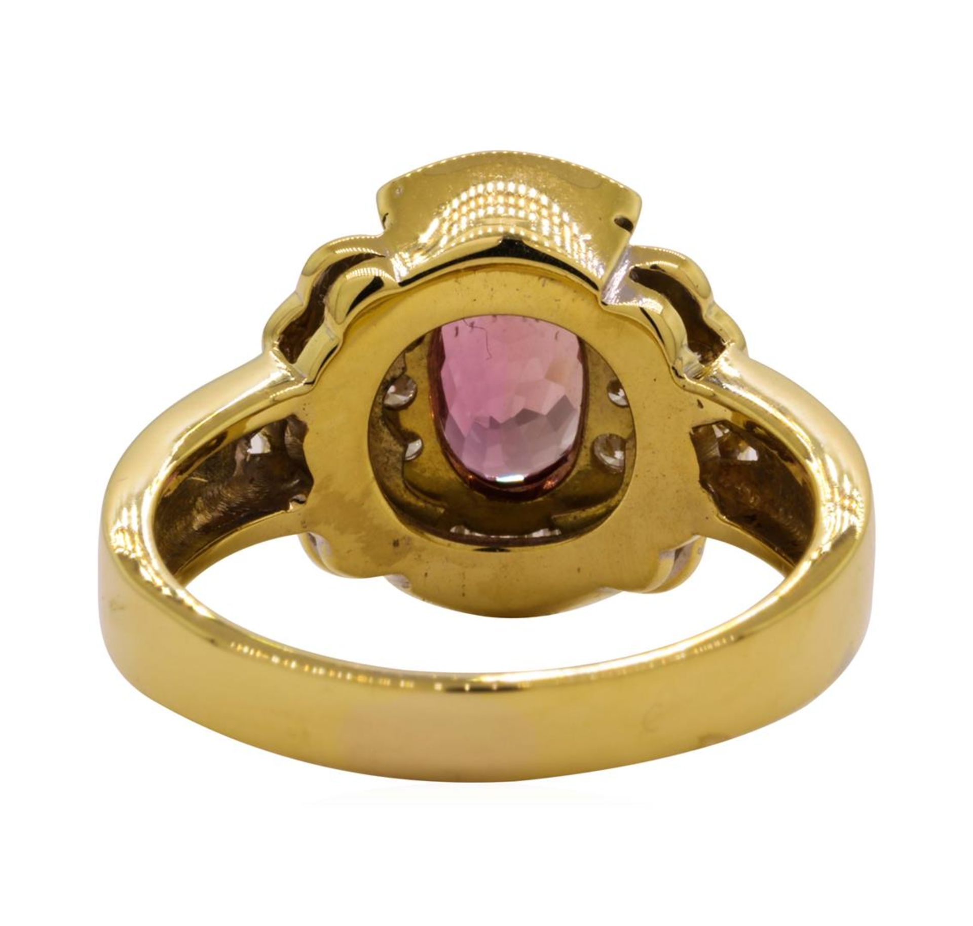 1.82 ctw Pink Spinel and Diamond Ring - 18KT Yellow Gold - Image 3 of 5
