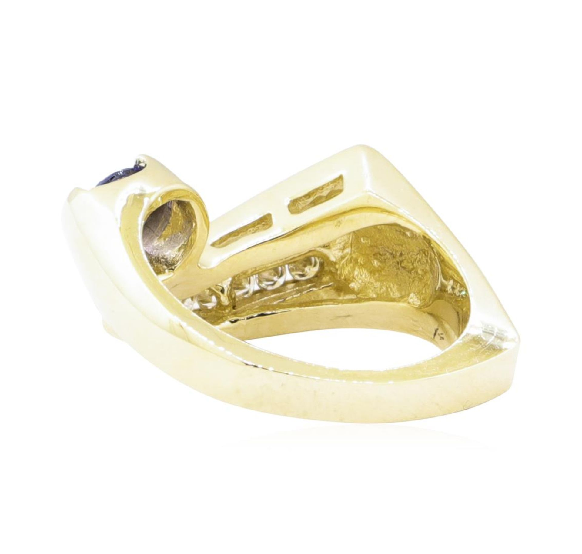 0.55ctw Blue Sapphire and Diamond Ring - 14KT Yellow Gold - Image 3 of 4