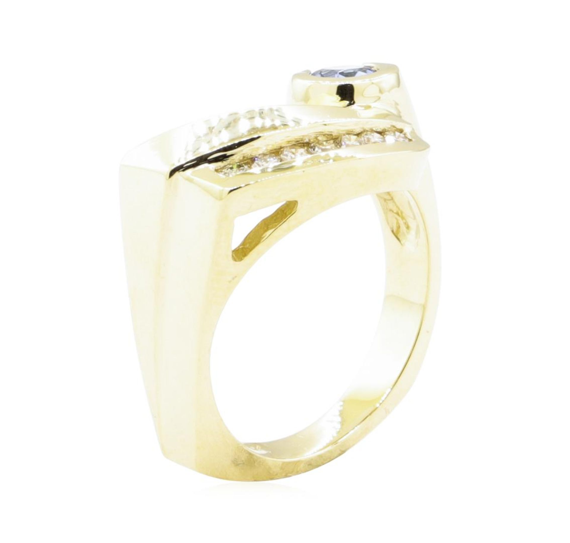 0.55ctw Blue Sapphire and Diamond Ring - 14KT Yellow Gold - Image 4 of 4