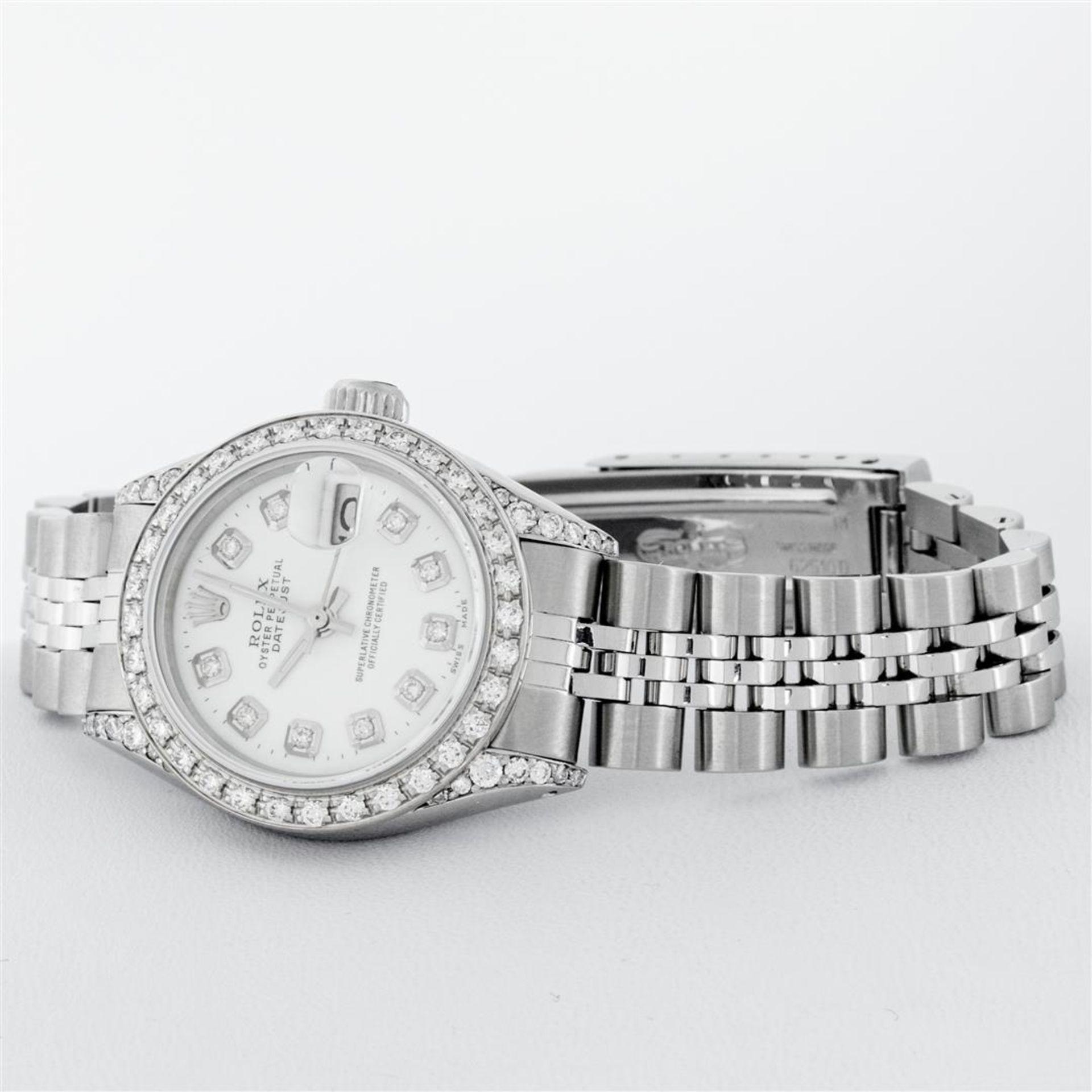 Rolex Ladies Stainless Steel White Diamond Lugs & Datejust Wristwatch - Image 4 of 9