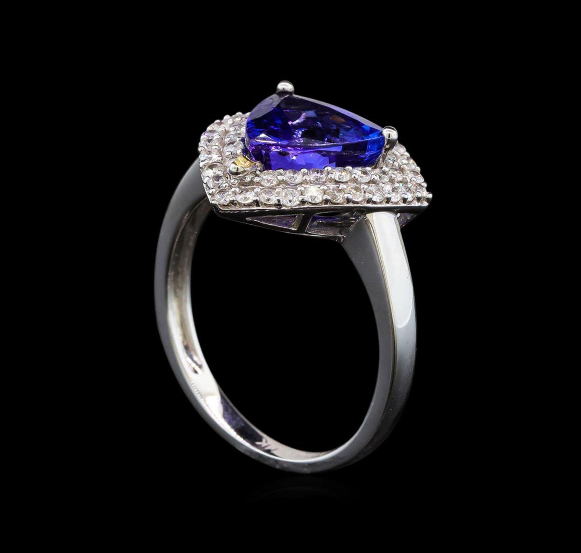 14KT White Gold 2.09 ctw Tanzanite and Diamond Ring - Image 4 of 5