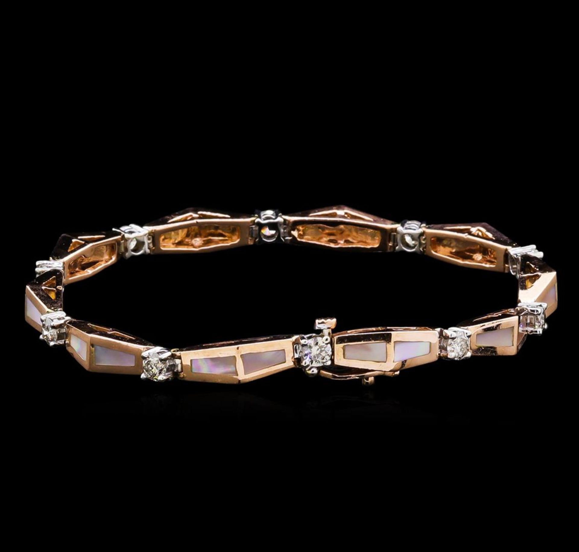 14KT Two-Tone Gold 0.67 ctw Diamond Bracelet - Image 2 of 4