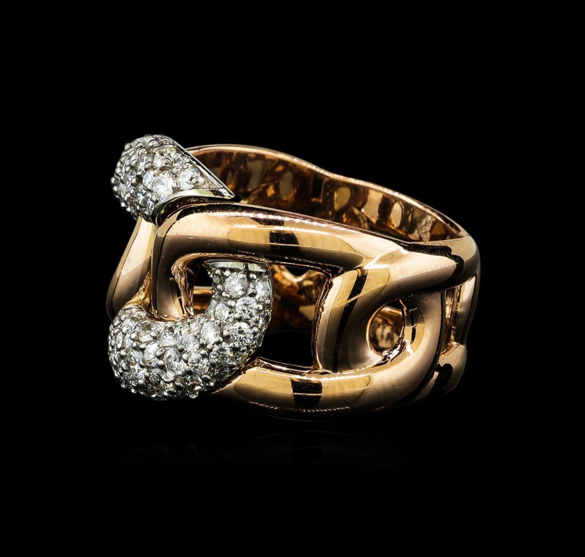 1.35 ctw Diamond Ring - 14KT Rose and White Gold - Image 3 of 5