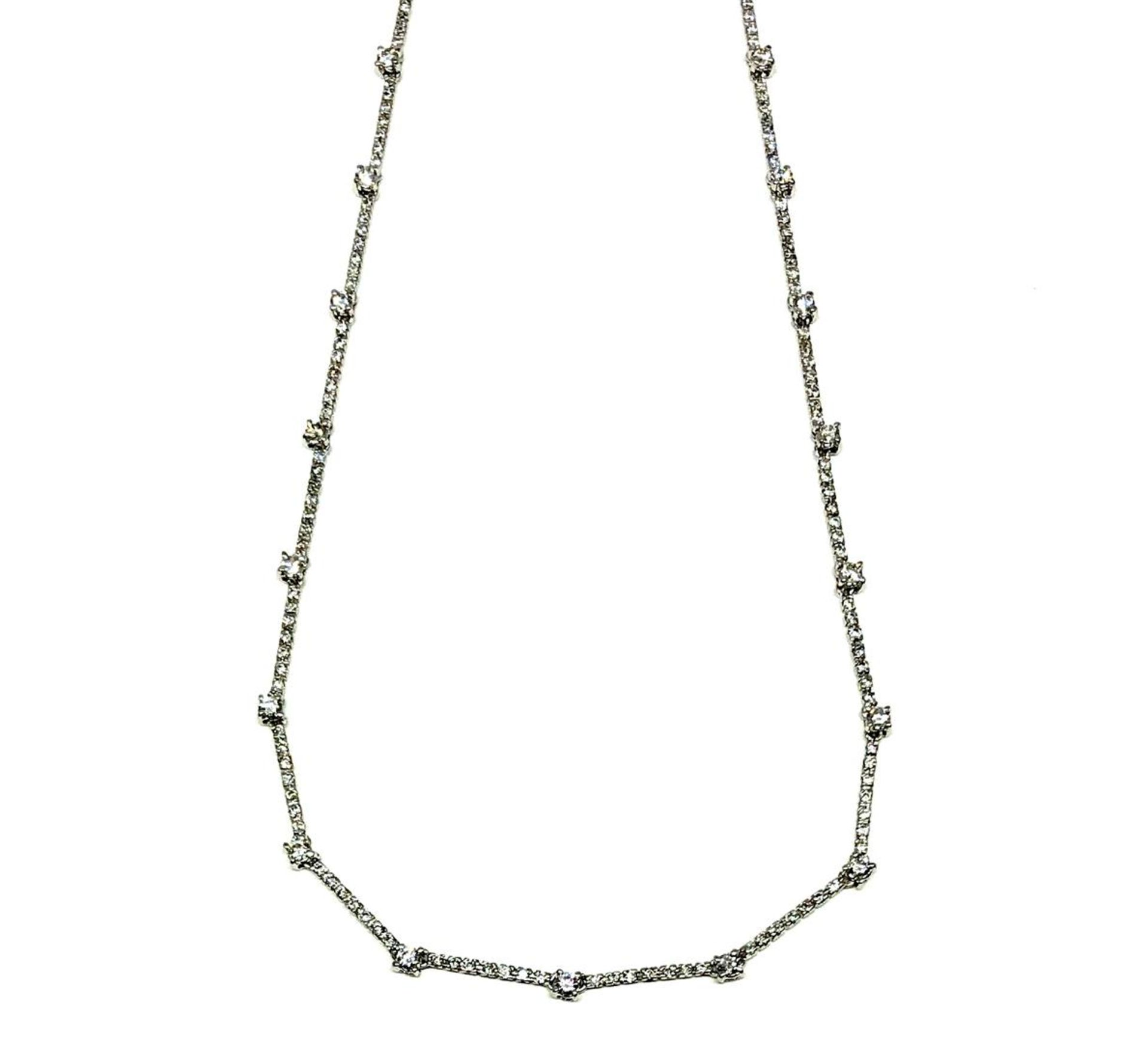 2.20 ctw Diamond Necklace - 18KT White Gold - Image 2 of 4