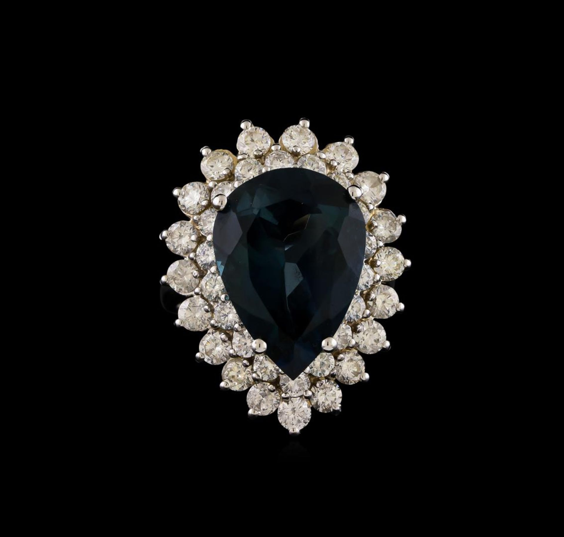 14KT White Gold 12.42 ctw Topaz and Diamond Ring - Image 2 of 5