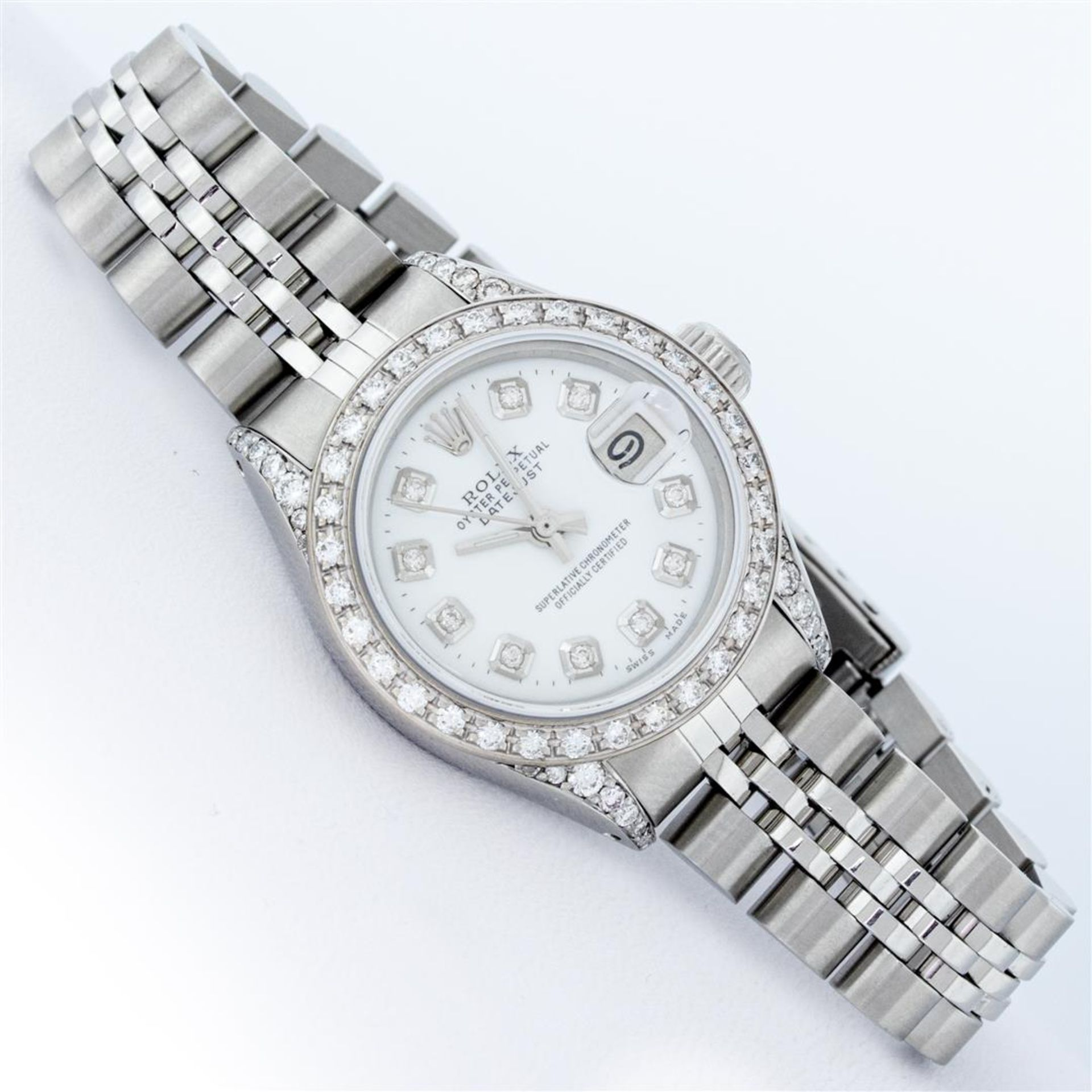 Rolex Ladies Stainless Steel White Diamond Lugs & Datejust Wristwatch - Image 3 of 9