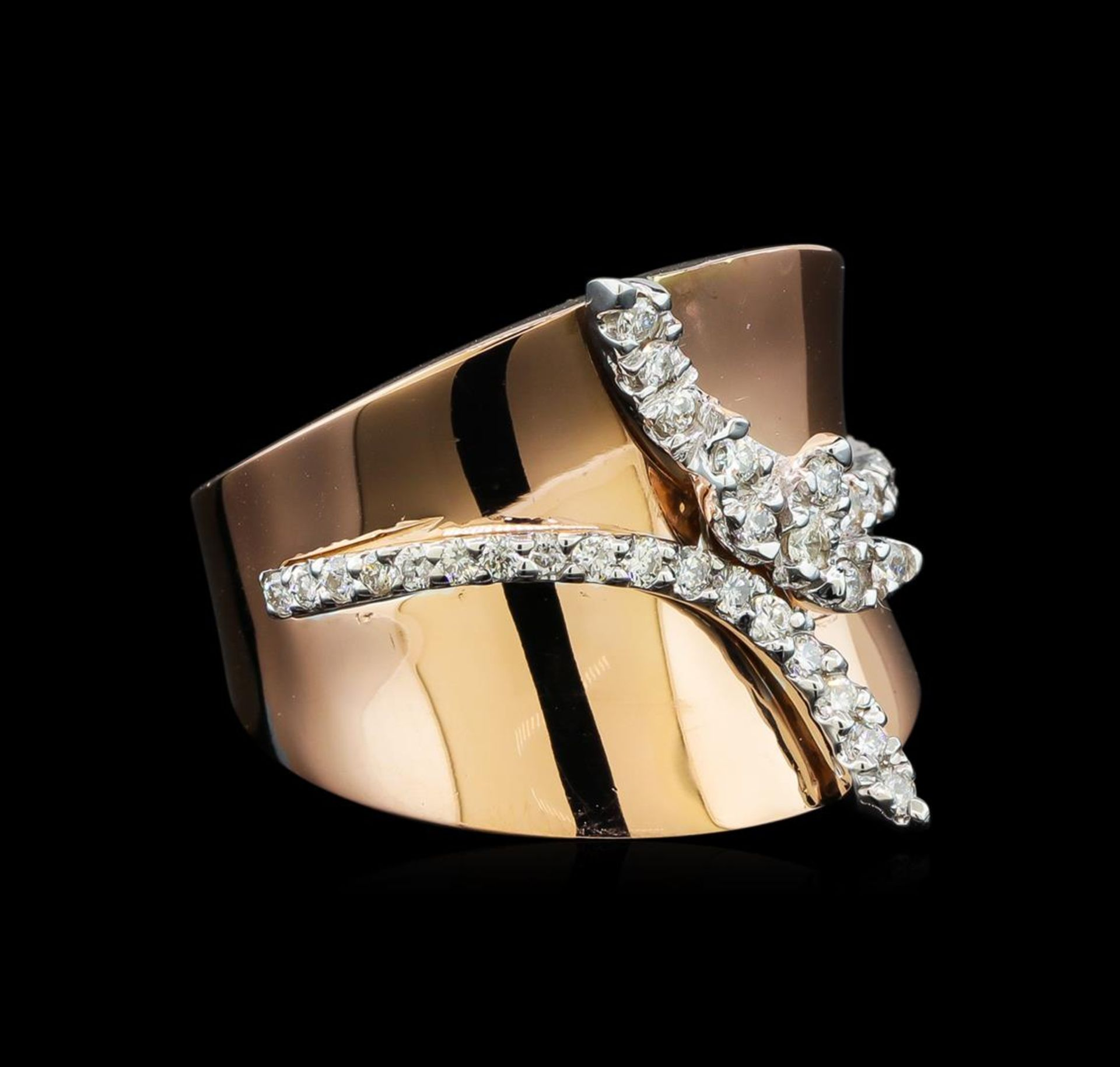 0.45ctw Diamond Ring - 14KT Two Tone Gold
