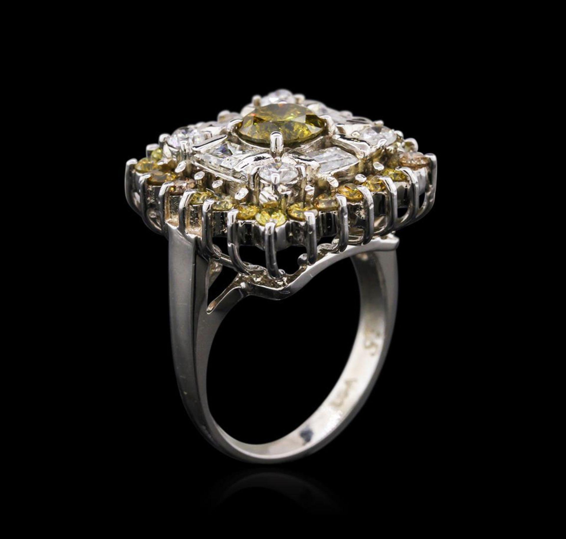 14KT White Gold 2.93 ctw Diamond Ring - Image 3 of 4