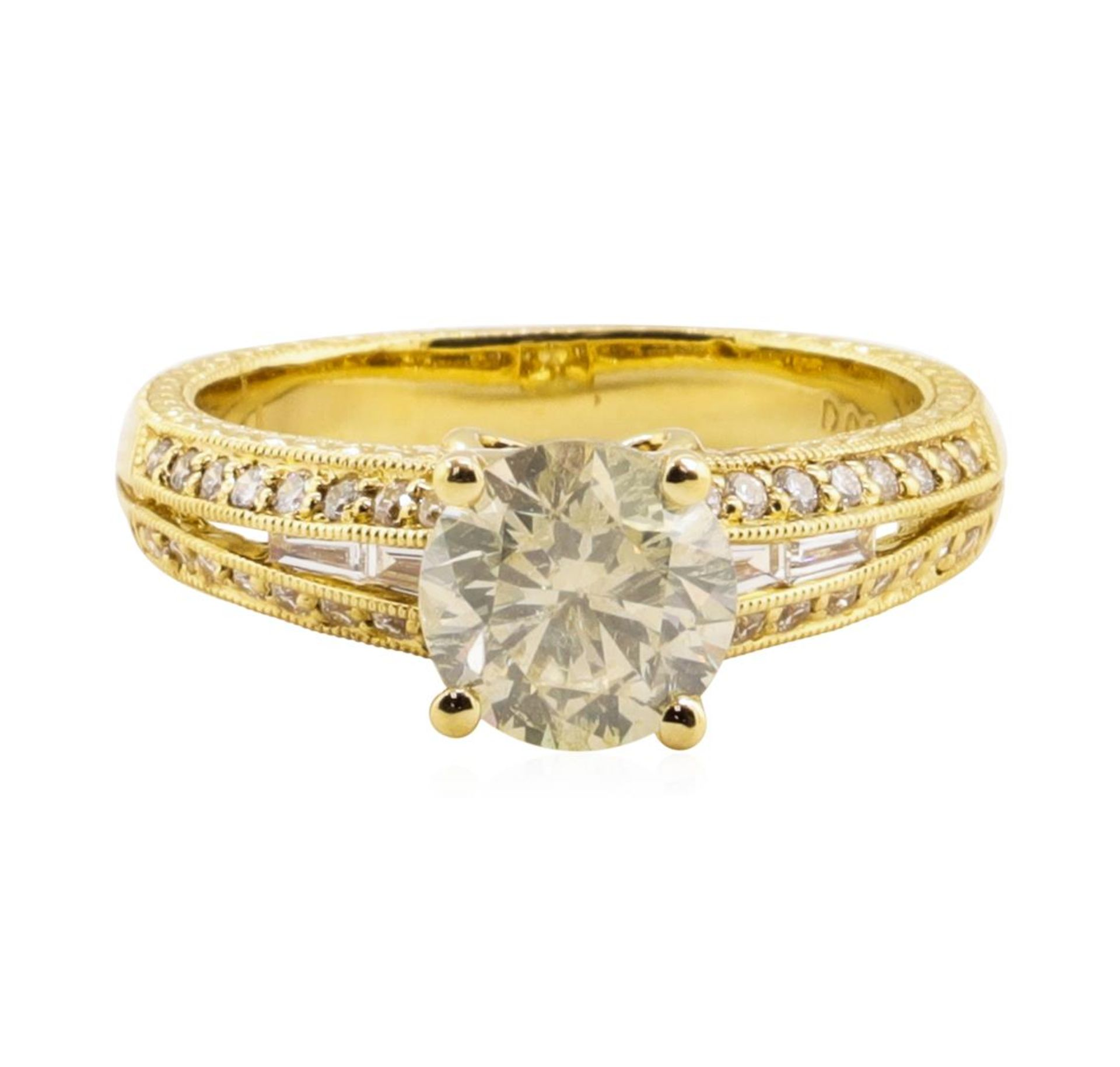 1.67ct Diamond Ring - 18KT Yellow Gold