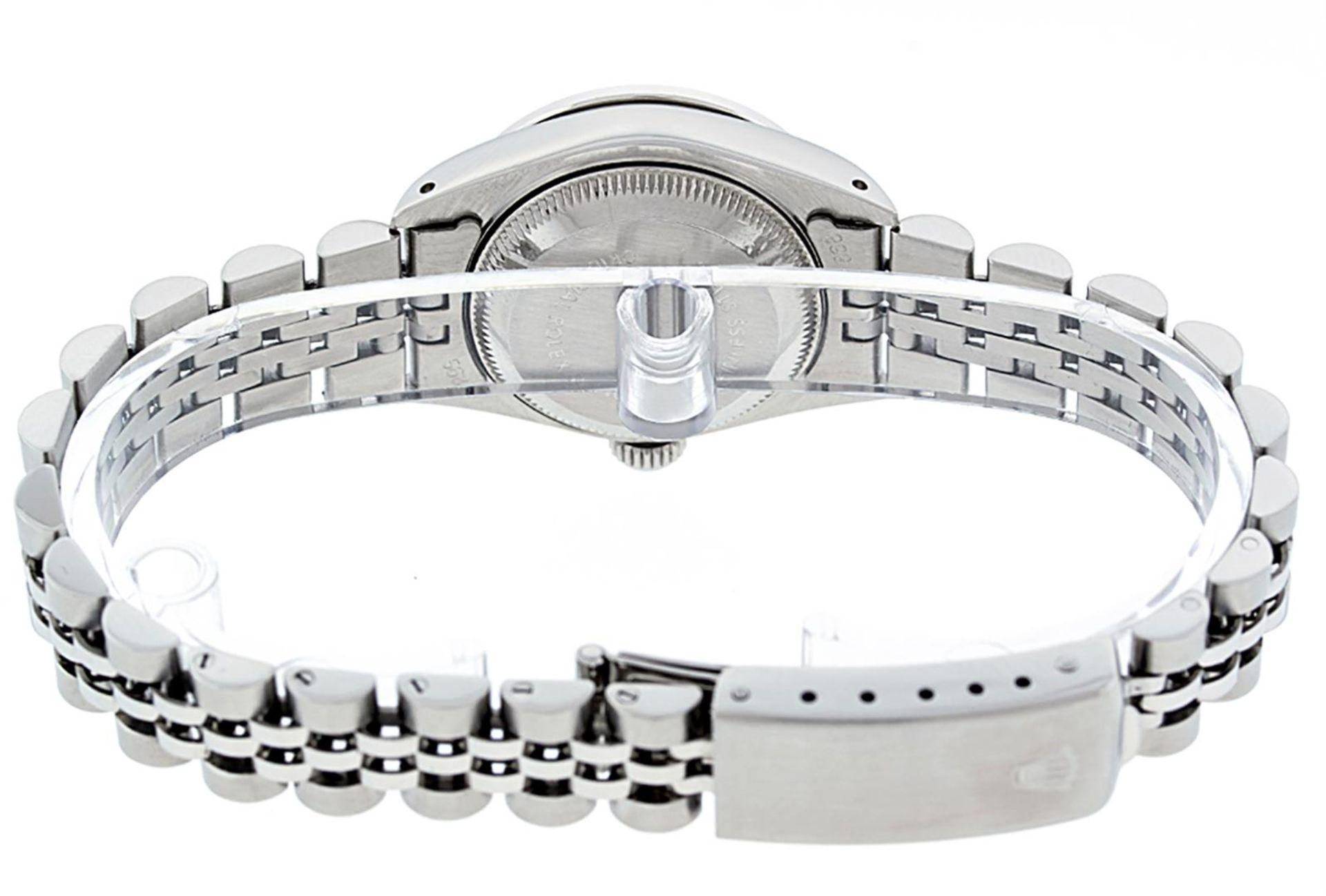 Rolex Ladies Stainless Steel 26MM Orange String Diamond Lugs Datejust Wristwatch - Image 6 of 9