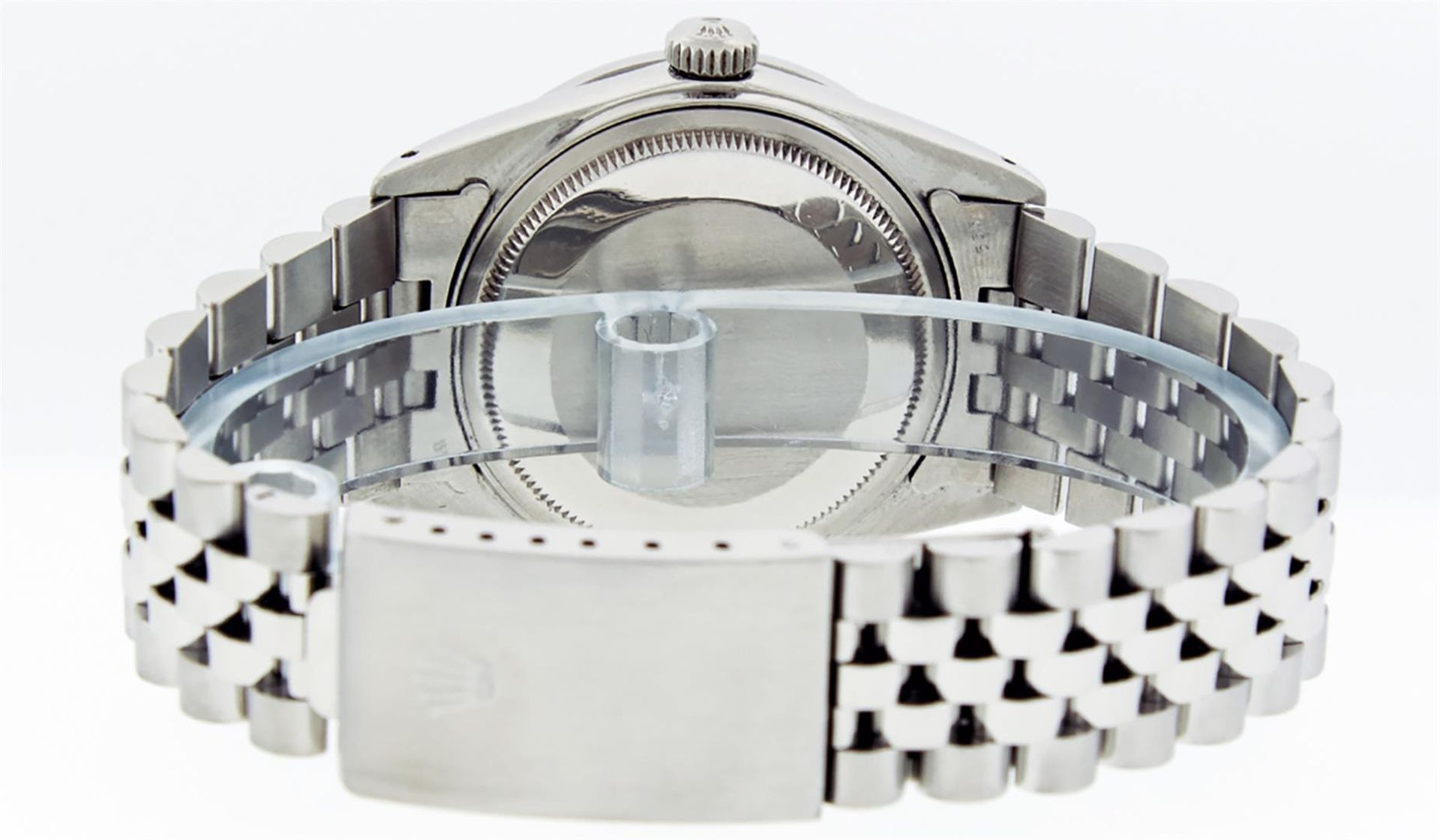 Rolex Mens Stainless Steel 36MM Slate Grey Diamond Oyster Perpetual Datejust Wri - Image 6 of 9