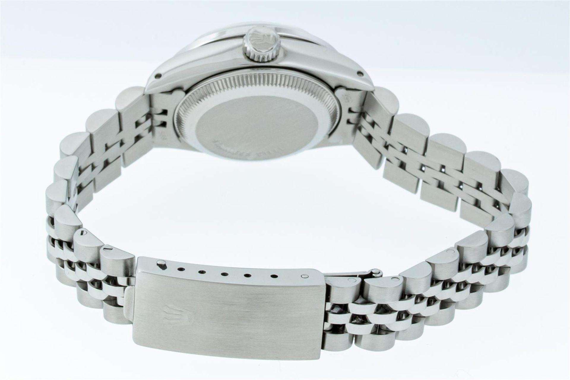 Rolex Ladies Stainless Steel Blue VVS Diamond & Sapphire Datejust Wristwatch - Image 8 of 9