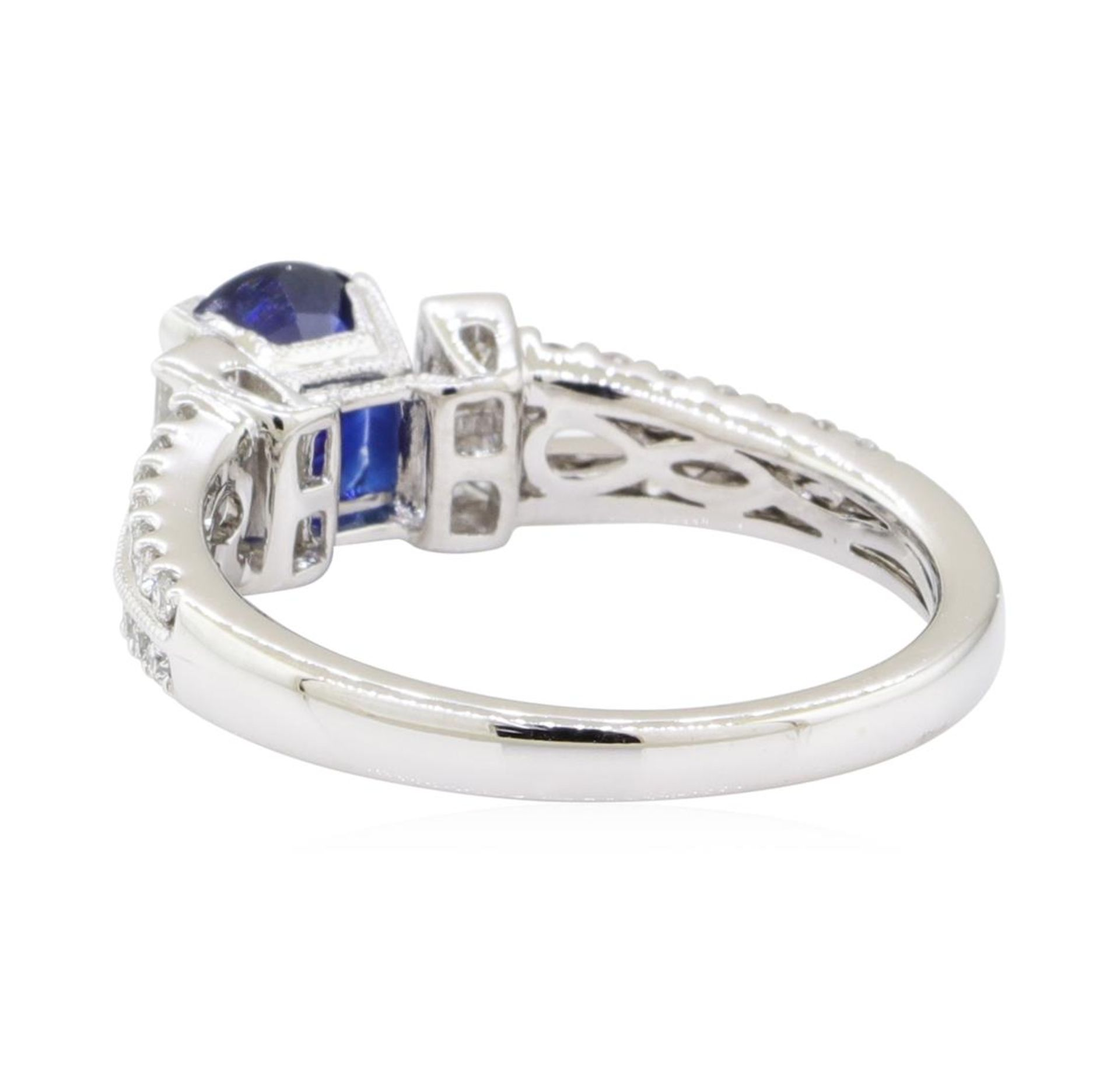 1.98 ctw Sapphire and Diamond Ring - 18KT White Gold - Image 3 of 5