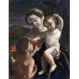 Giovanni Gaspare Lanfranco - Madonna and Child with Young John the Baptist
