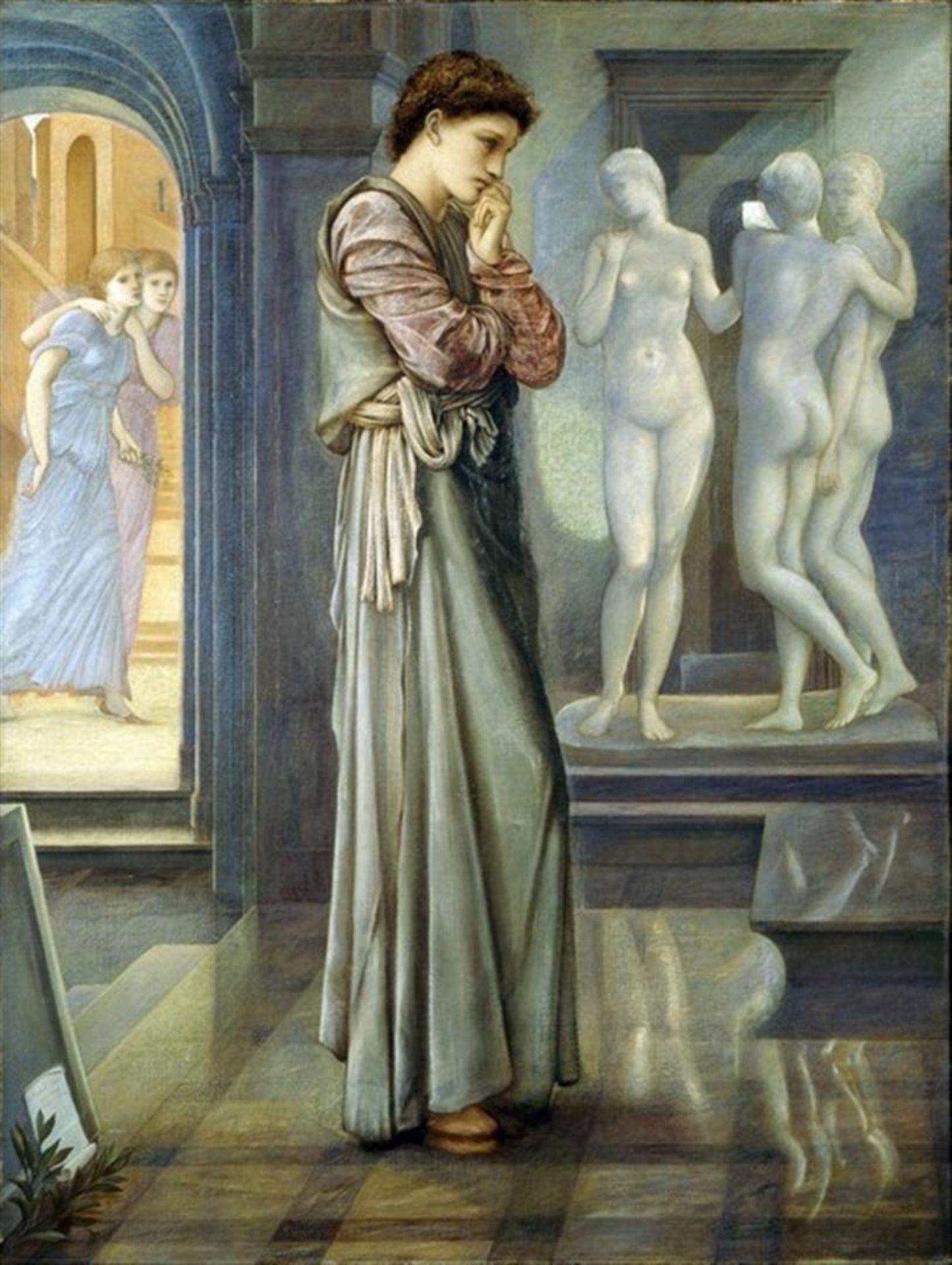 Edward Burne-Jones - Pygmalion and the Image III
