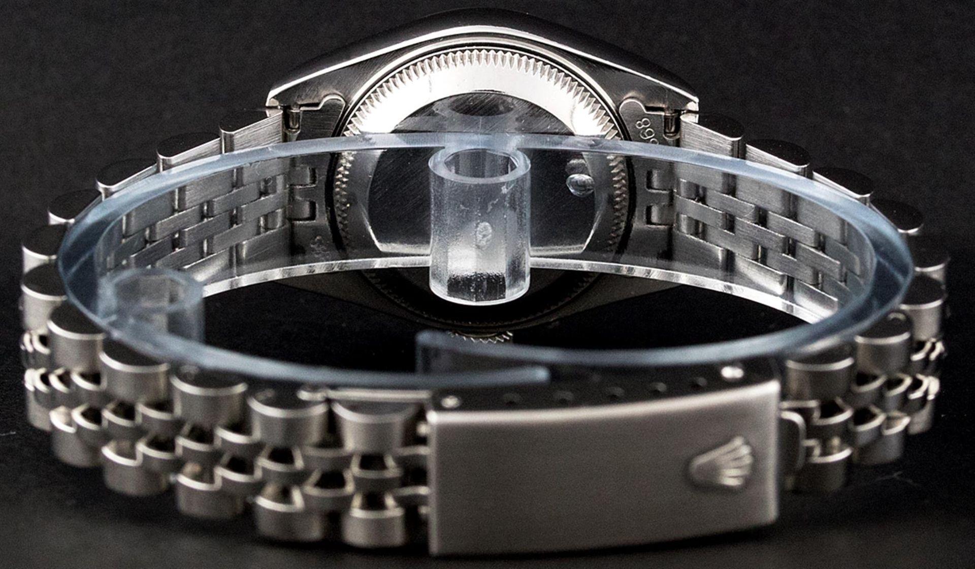 Rolex Ladies Stainless Steel Silver Index 26MM Quickset Datejust Wristwatch - Image 9 of 9