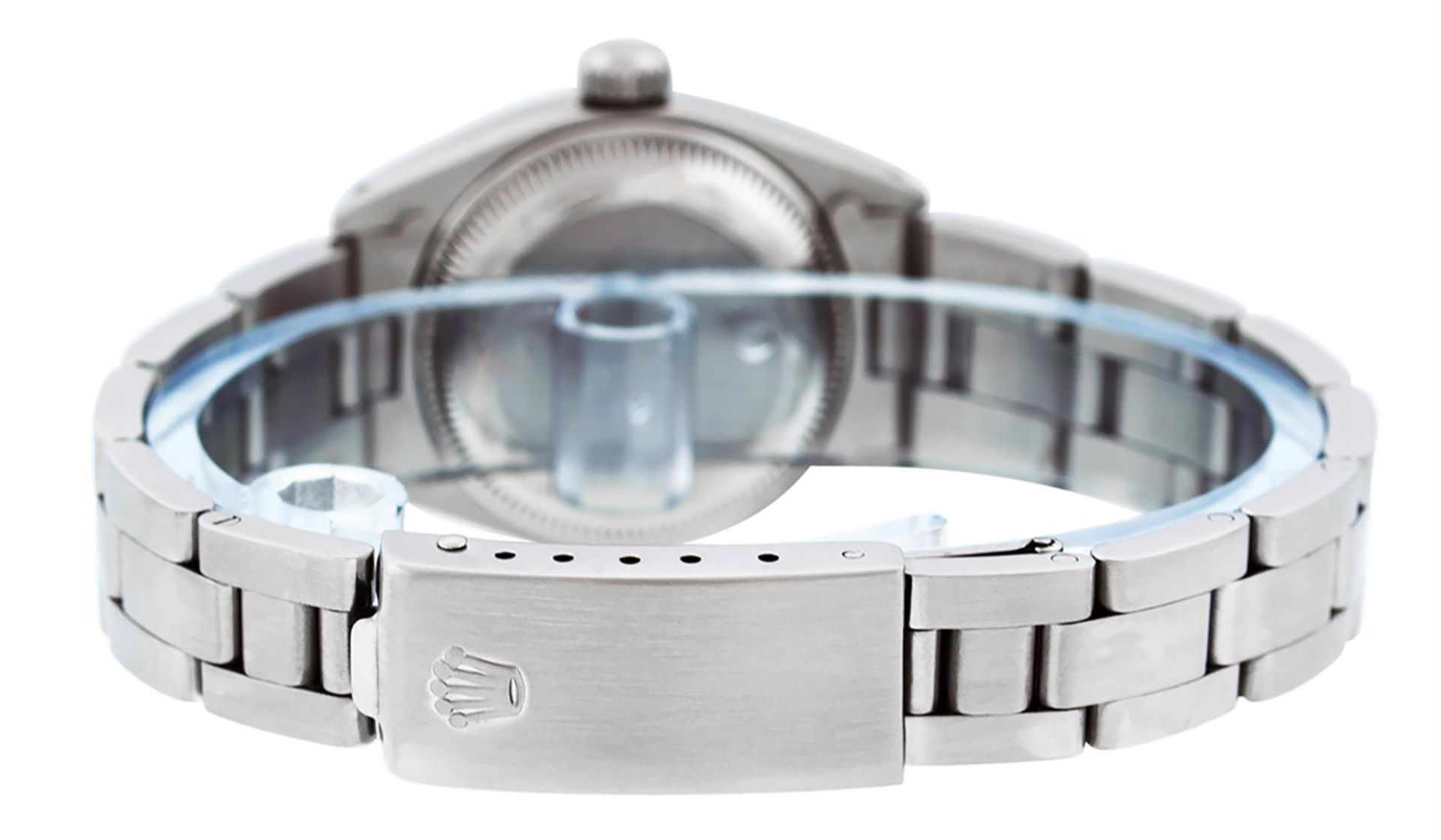 Rolex Ladies Stainless Steel MOP Emerald & Diamond Oyster Perpetaul Datejust Wri - Image 7 of 9