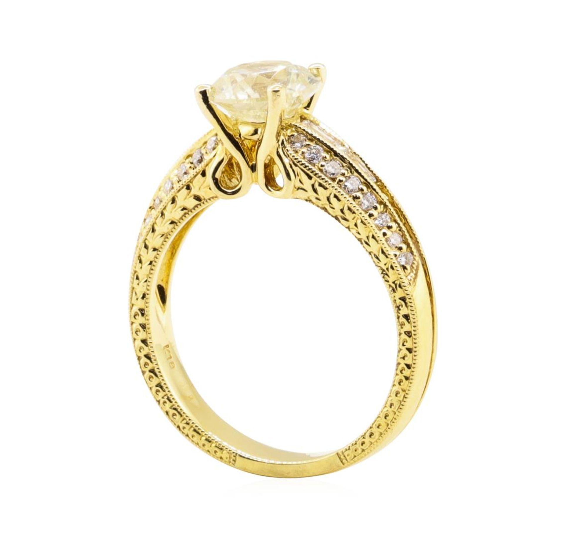 1.67ct Diamond Ring - 18KT Yellow Gold - Image 4 of 5