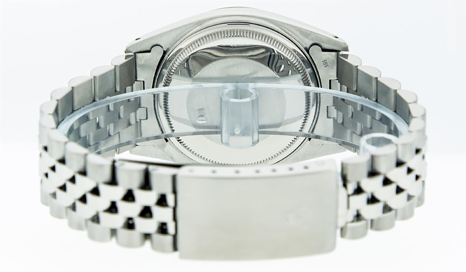 Rolex Mens Stainless Steel 36MM Slate Grey Diamond Oyster Perpetual Datejust Wri - Image 7 of 9