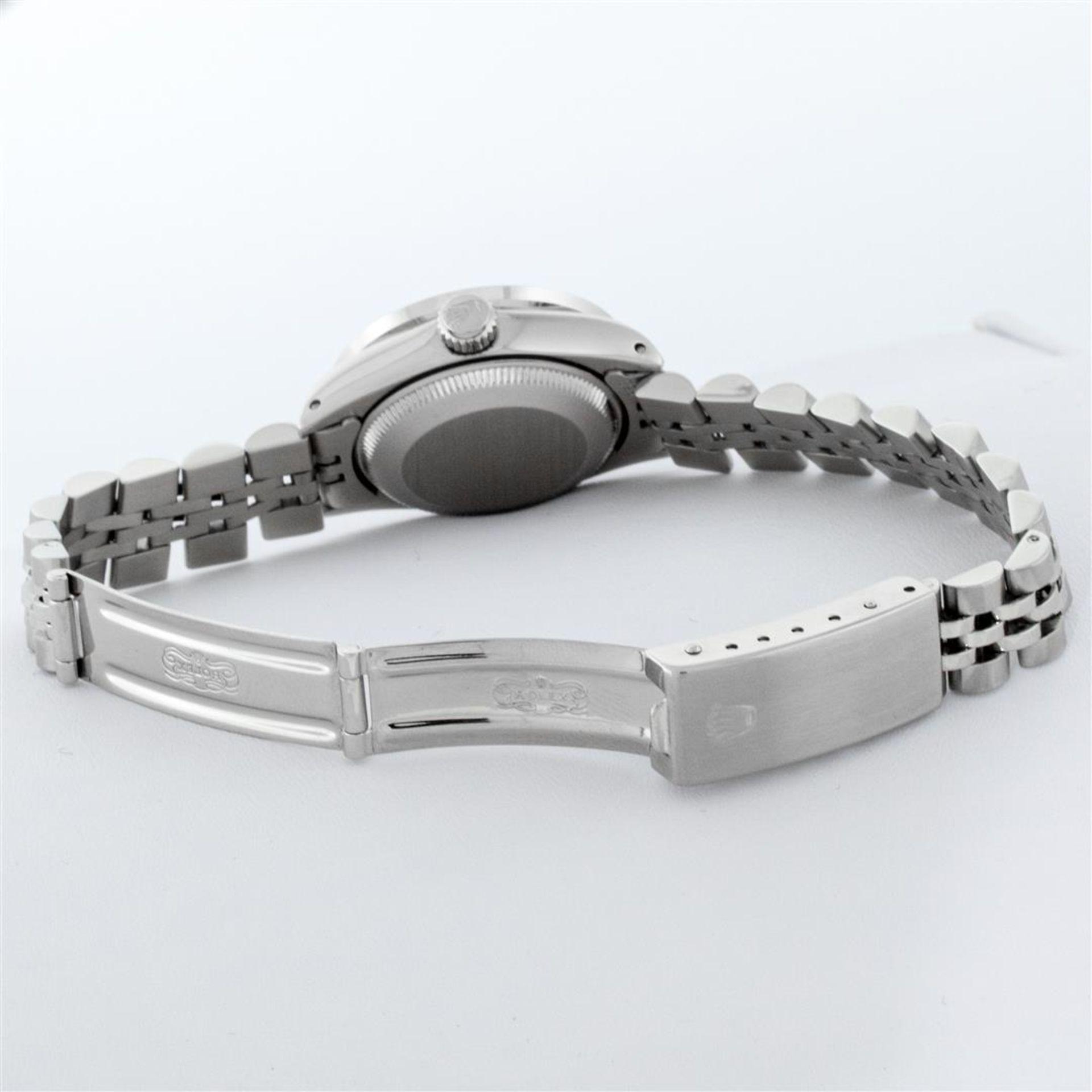 Rolex Ladies Stainless Steel Pink MOP Pyramid Diamond Datejust Wristwatch 26MM - Image 5 of 9