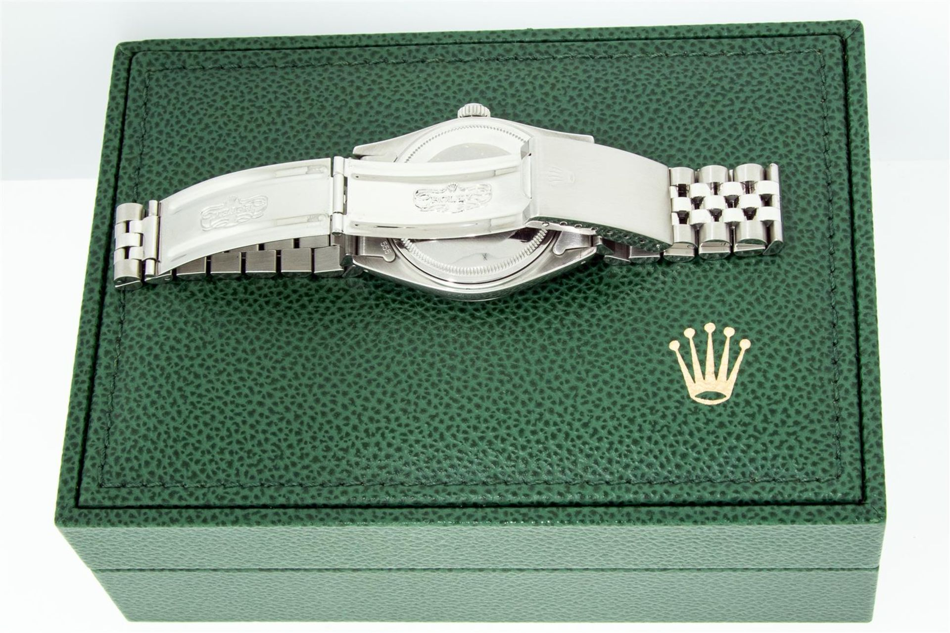 Rolex Mens Stainless Mother Of Pearl Diamond 36MM Datejust Wristwatch With Rolex - Image 9 of 9