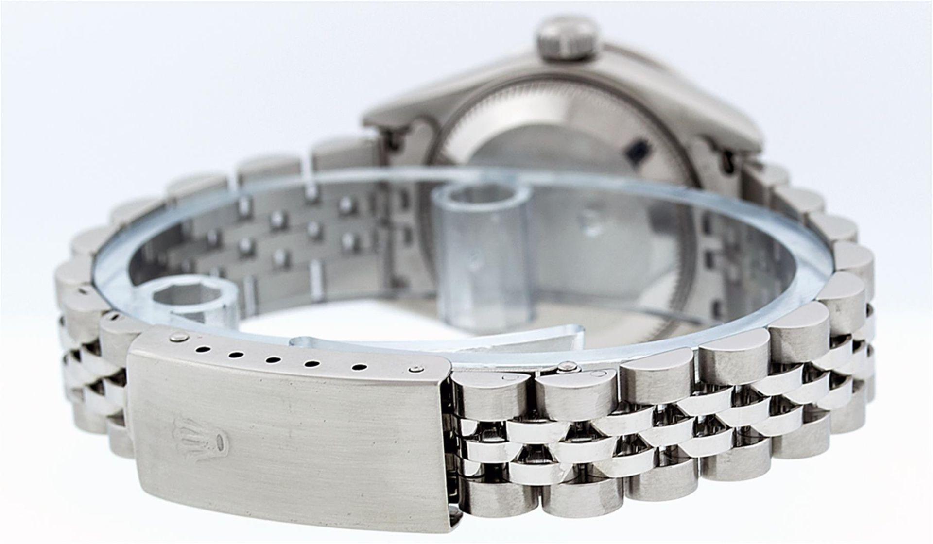 Rolex Ladies Stainless Steel Quickset Salmon Diamond Lugs Jubilee Datejust Wrist - Image 5 of 9