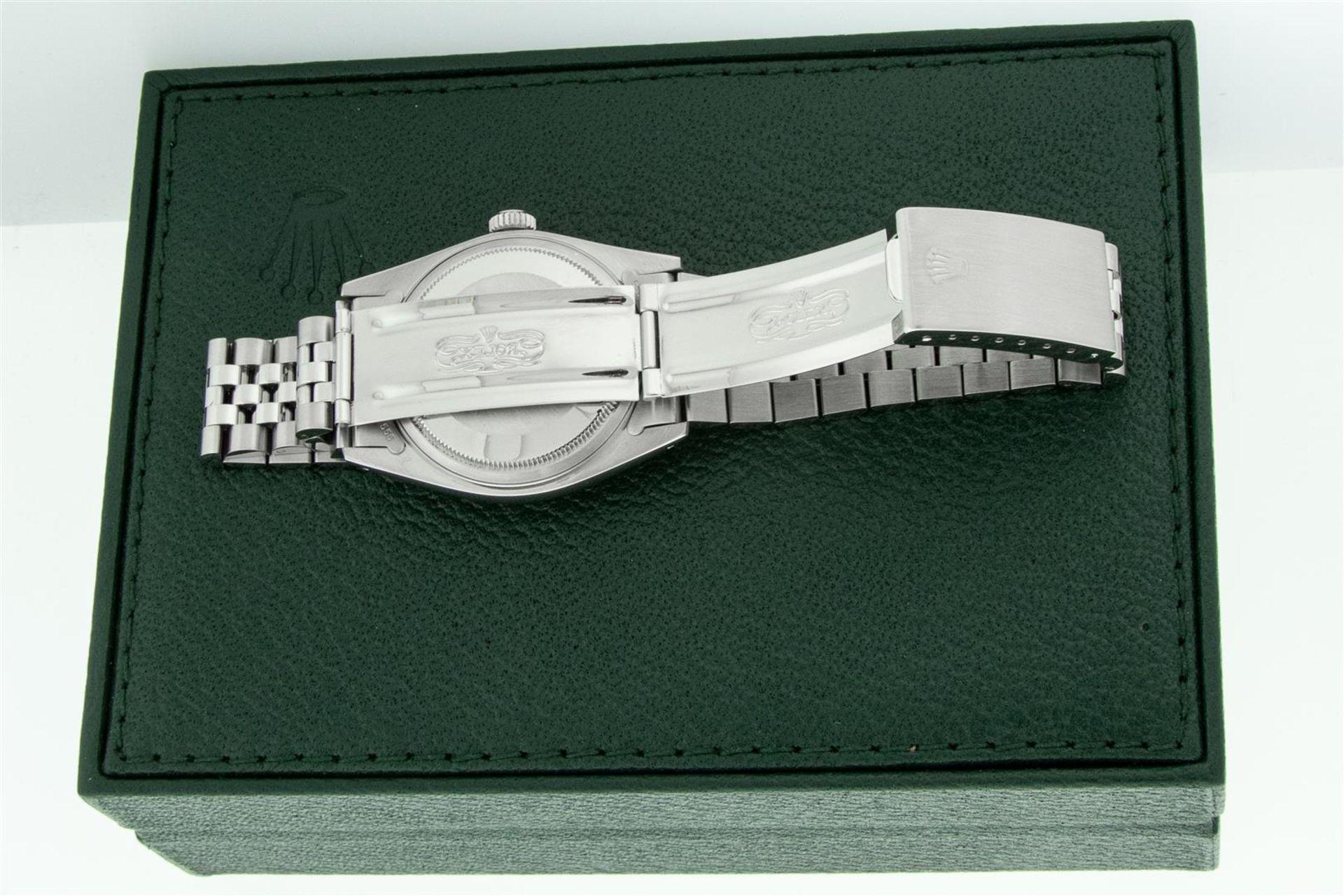 Rolex Mens Stainless Steel Meteorite Diamond 36MM Oyster Perpetual Datejust Wris - Image 7 of 9